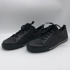 Coach Fabiana Felt Sneakers Dark Gray Size 9.5B